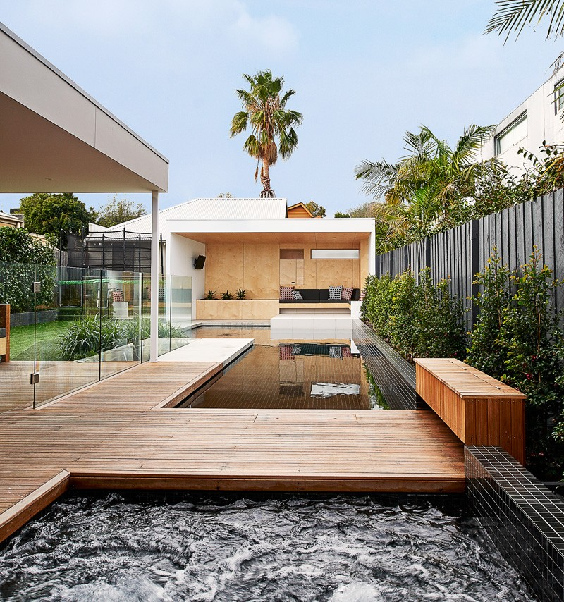 A New Poolside Lounge Area Designed For A Family Home In Australia ...