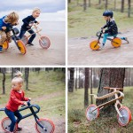 A Single Piece Of Bent Plywood Is The Frame On These New Kids Bikes