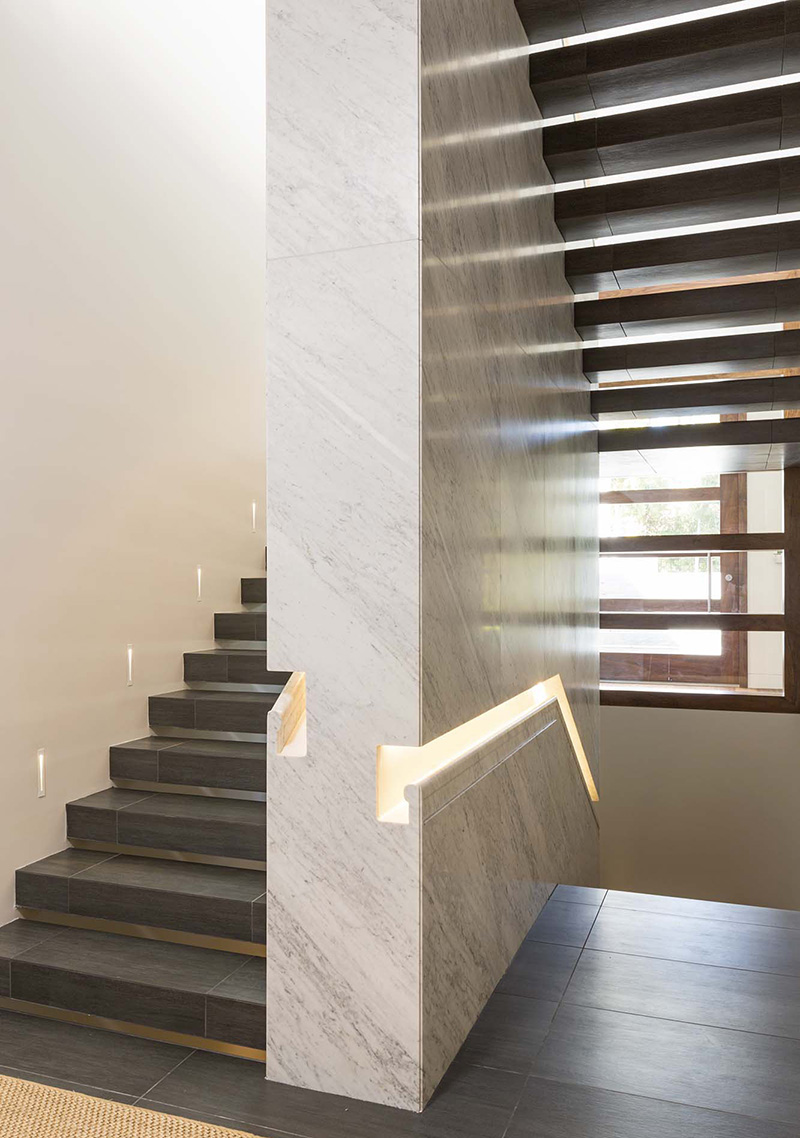 Design Detail - This staircase features a built-in handrail