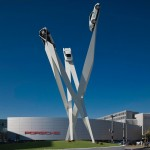 Gerry Judah Completes A New Sculpture For The Porsche Museum In Stuttgart