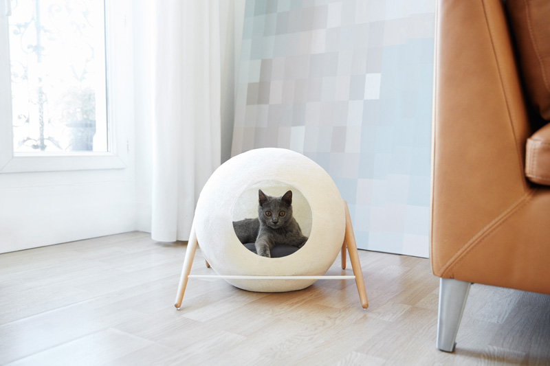 These Cat Cocoons Look More Like Minimalist Sculptures Than Cat Beds