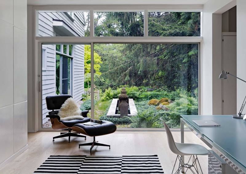 Mid century home in massachusetts gets an updated look for Mid century modern windows