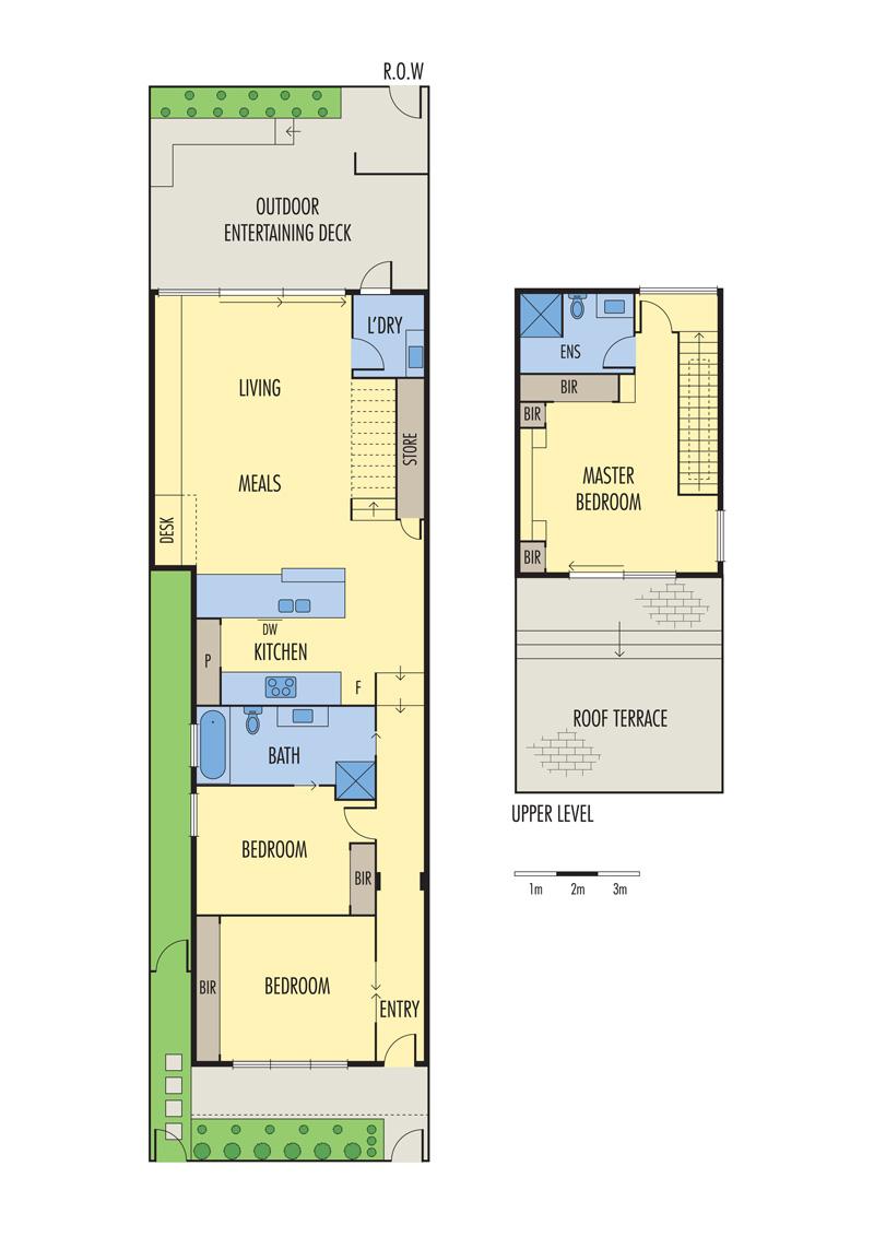 پلان آپارتمان سه خوابه،پلان سه بعدی