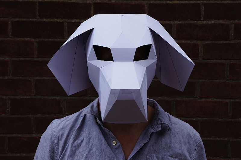 Geometric Halloween Masks By Wintercroft