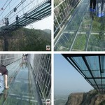 Watch A Video Of People Crossing The New Glass Suspension Bridge In China