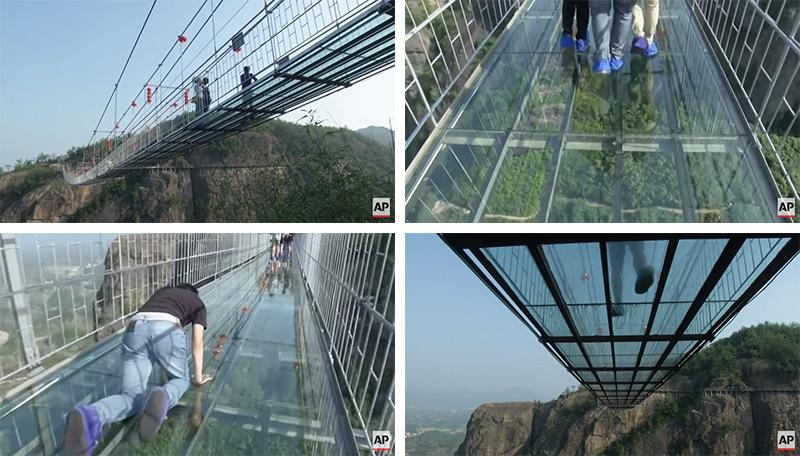 Glass Bottom Bridge In China