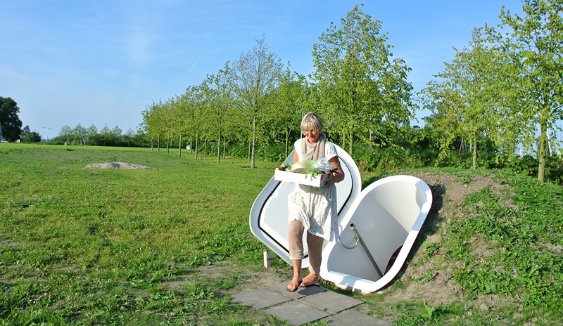 A Dutch designer has created an underground fridge that does not use electricity