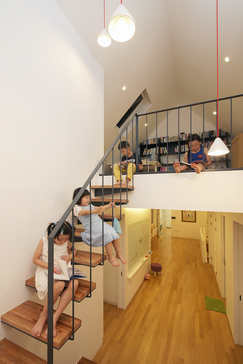Stairs In A Home In South Korea Designed By mlnp Architects