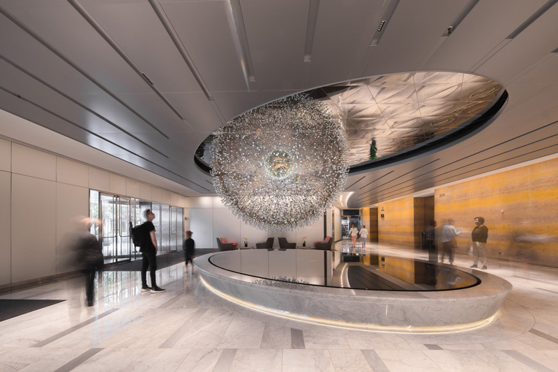This Sculpture In Chicago Is Made Up Of Over 3,100 Hand Blown Glass Orbs