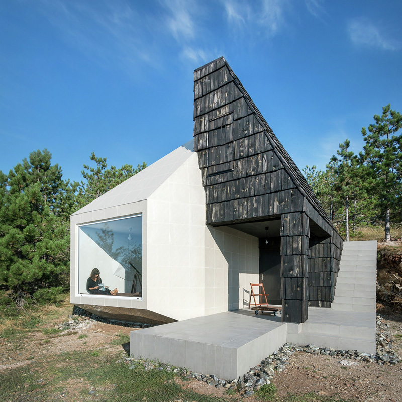 Artist Studio Overlooks Guest Cabin With Rooftop Garden: This House Merges Traditional And Contemporary To Create A