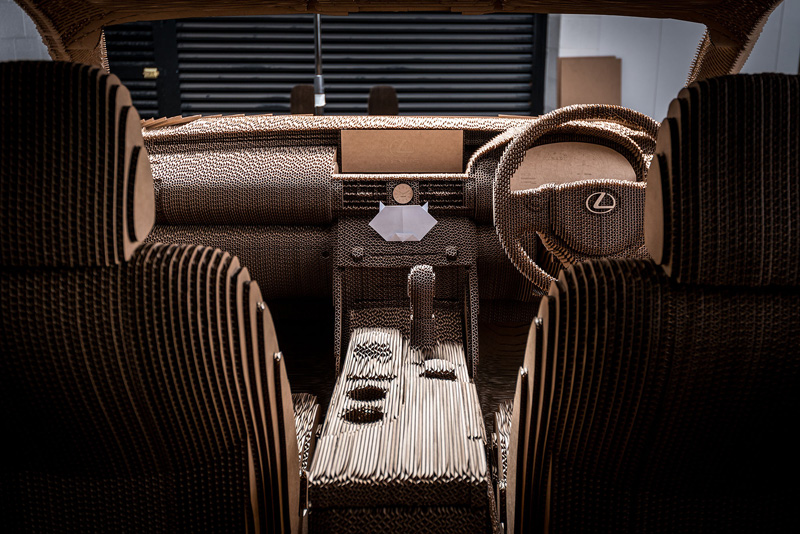LEXUS Launches A Car Made From Cardboard