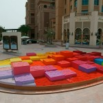 30 tons of colored sand was used to create this art installation