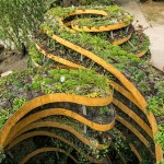 'The Infinite Green' by Adam Kalinowski, is a public sculpture covered in plants