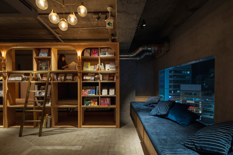 Book and Bed Hostel, Tokyo, designed by Suppose Design Office