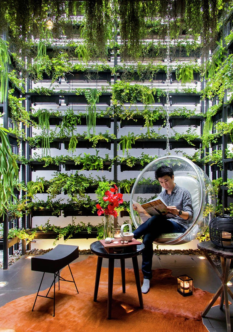 The Vertical Garden In This House Reconnects The Residents