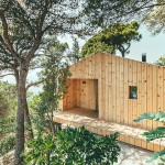 Dom Arquitectura have designed a small wood home in Spain