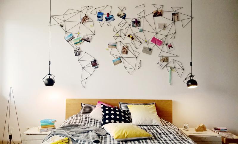 World Map by Widawscy Studio Architektury for Polish home decor brand, aleDRUCIAK.
