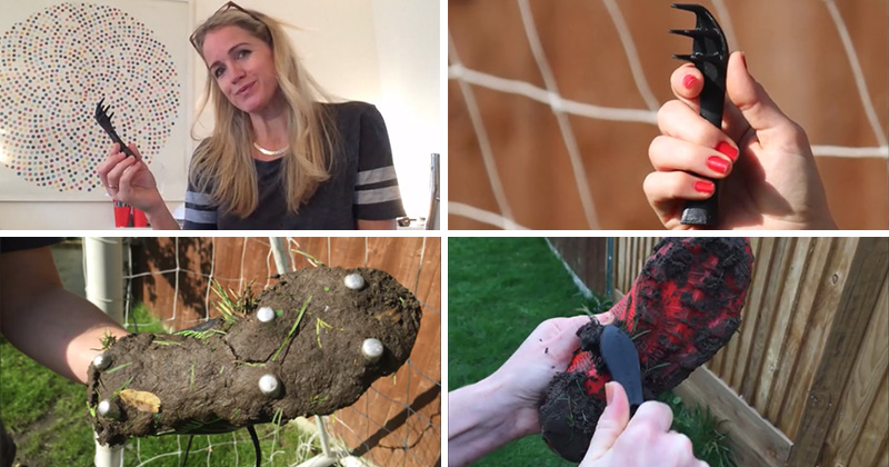 This mother & engineer designed a tool to help clean her kids muddy shoes