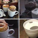This mug is designed to keep your drink hotter longer and hold a doughnut