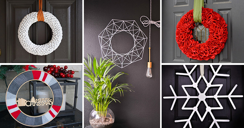 12 modern christmas wreath diy ideas