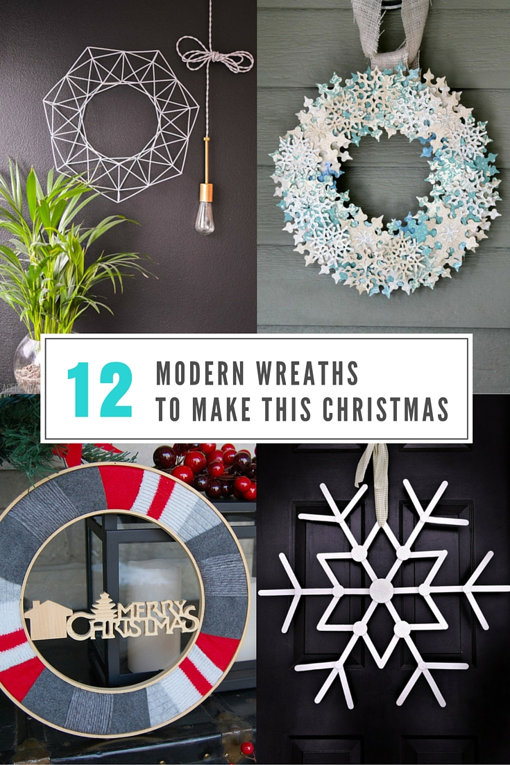 Modern wreaths for front door - 12 Modern Wreaths To Make This Christmas