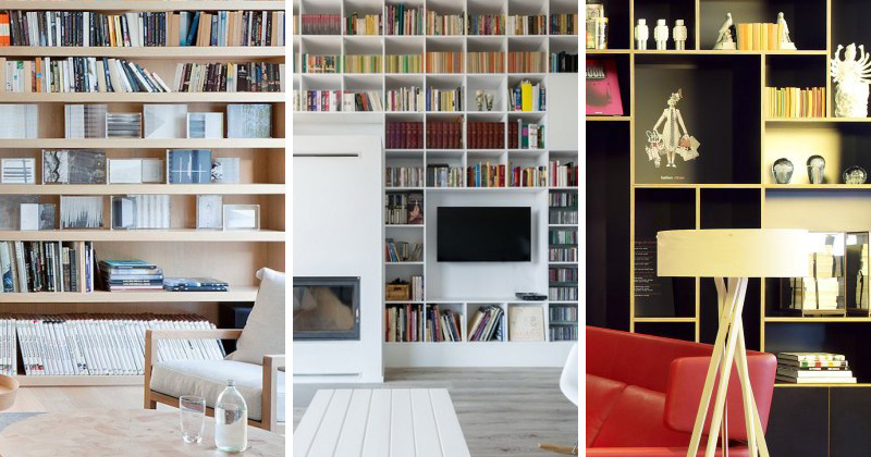 9 examples of floor-to-ceiling bookshelves