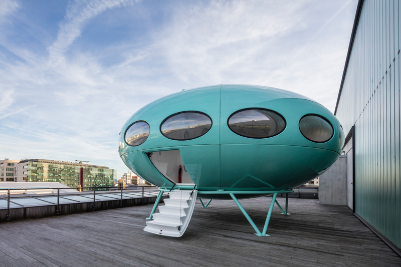 The Futuro House at Central Saint Martins