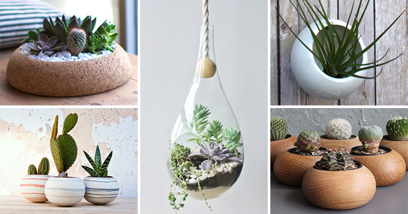16 Gift Ideas For Lovers of Little Gardens #Planters #SmallPlanters #Plants #Decor #HomeDecor