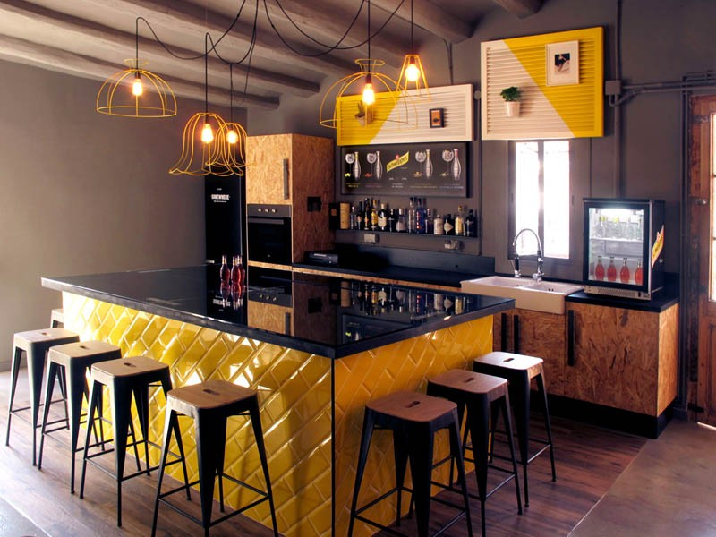 The interior design of a new gastronomy room in Barcelona