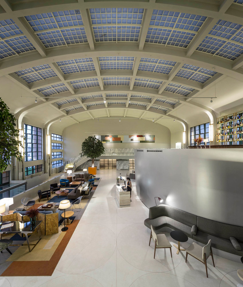 This hotel lobby used to be a fish market architecture for Design hotel porto