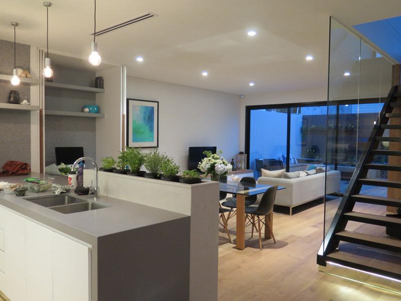This kitchen has a built-in herb garden