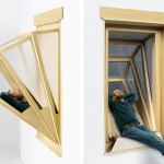 """These """"More Sky"""" Window Concepts Give Small Apartment Dwellers Some Outdoor Time From Within Their Homes"""