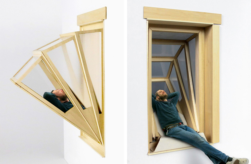 "These ""More Sky"" Window Concepts Give Small Apartment Dwellers Some Outdoor Time From Within Their Homes"