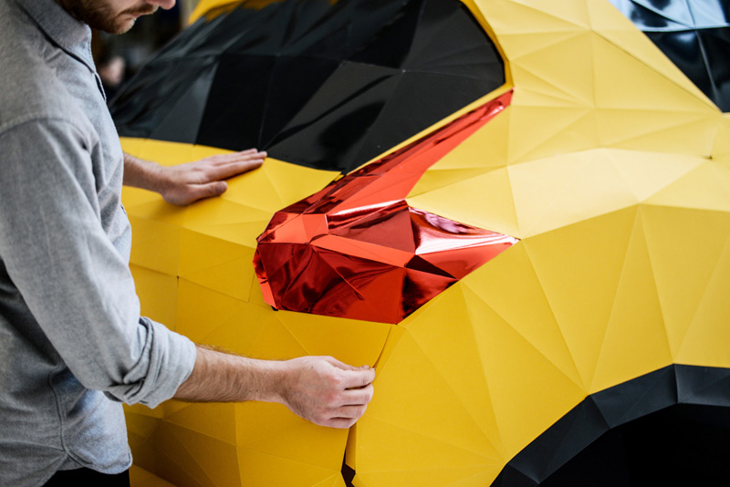Nissan Juke: Folded in Britain by artist Owen Gildersleeve and model maker Thomas Forsyth