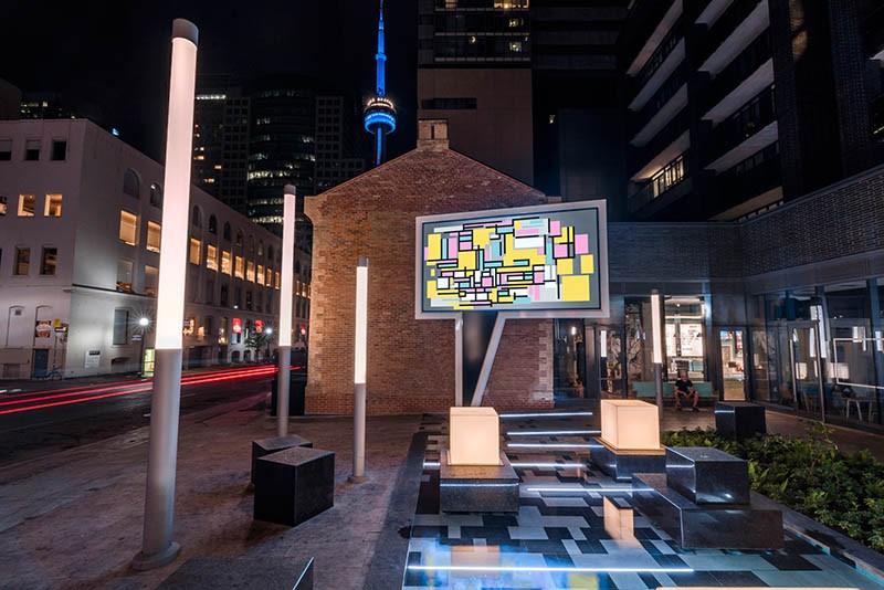 Speech Bubble public sculpture in Toronto