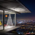 This modern Christmas Tree company got permission to do a photo shoot in the iconic Stahl House overlooking Los Angeles