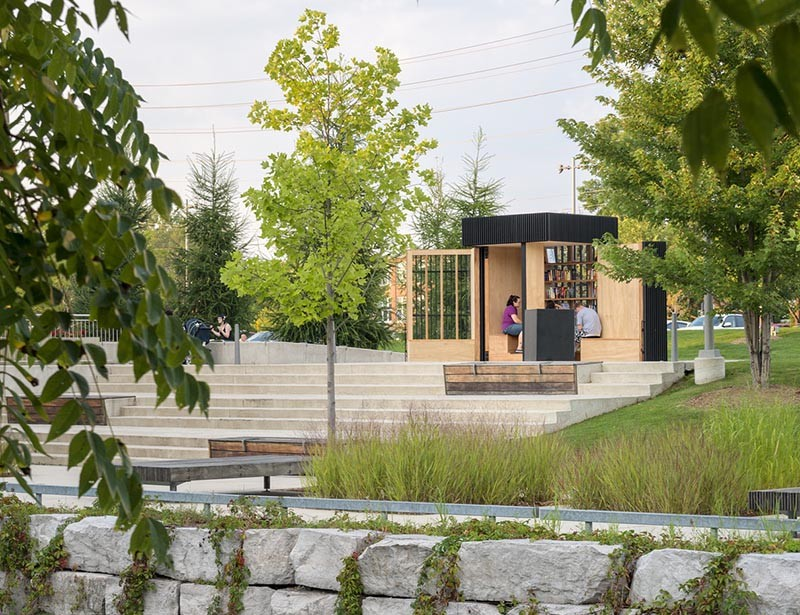 Story Pod lending library in Newmarket Ontario