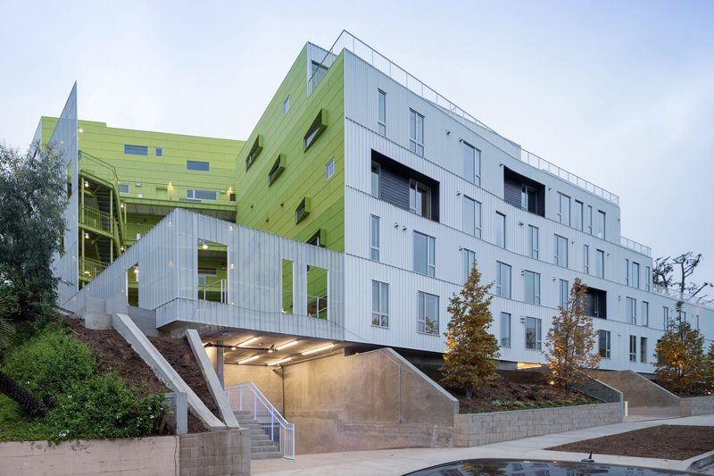 Student and faculty housing at UCLA, by LOHA (Lorcan O'Herlihy Architects)