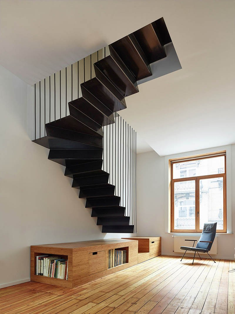 design detail a suspended steel staircase contemporist