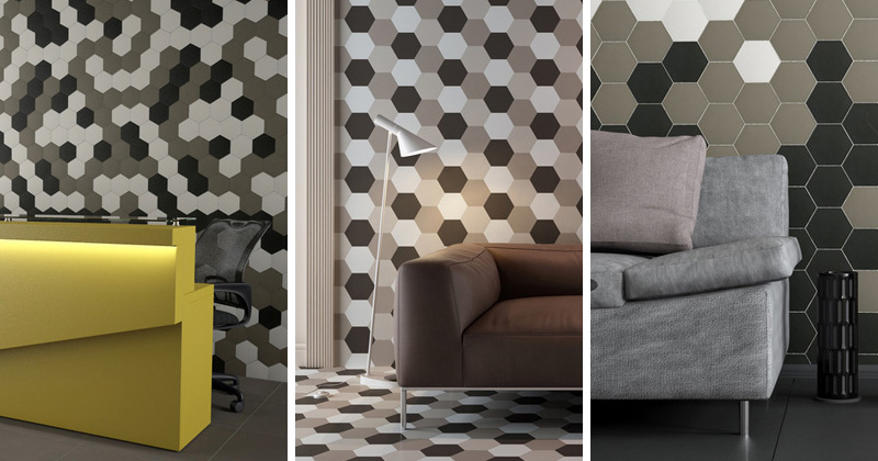 3 Ideas For Using Hexagon Tiles On Walls | CONTEMPORIST