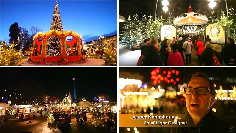 The Christmas lights of Tivoli Gardens
