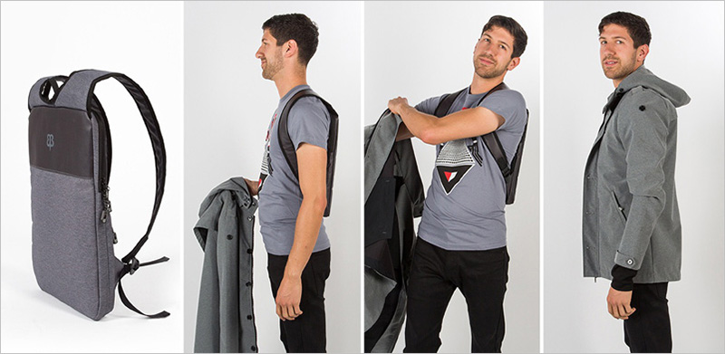 An Easy Way To Hide Your Laptop Under Your Jacket