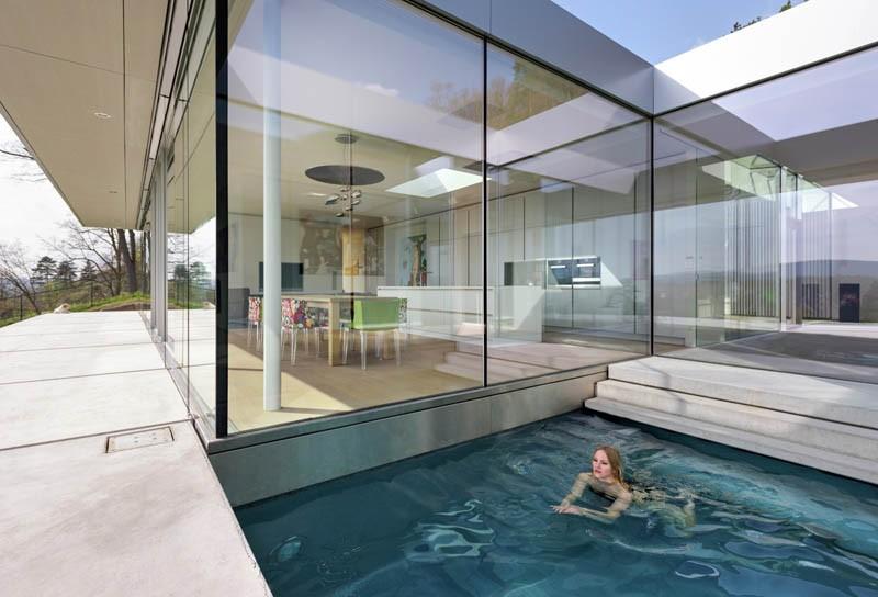 نمای ساختمان با شیشه و بتن،نمای شیشه ای