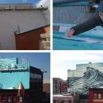 Watch this artist paint a large mural on a building in New Jersey