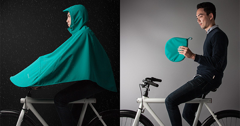 These designers have made a rain poncho for bike riders