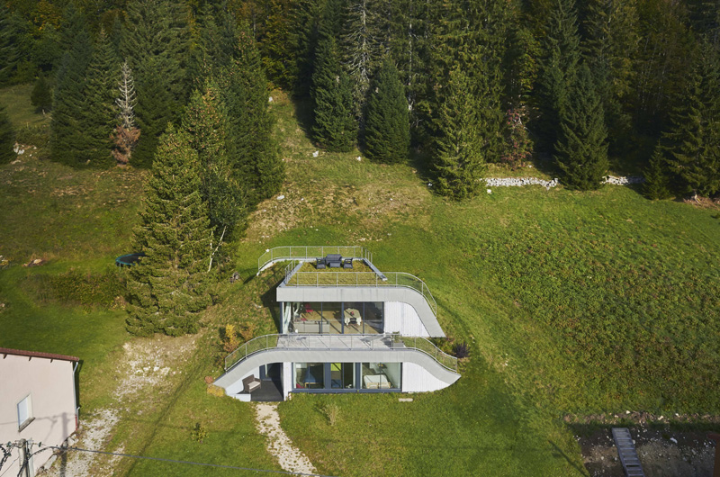This House Is Built Into A Hillside In France Contemporist