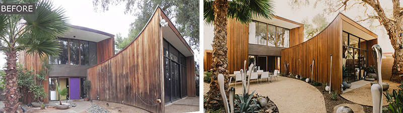 Before After A Redwood Clad 1980s Home In Phoenix Gets