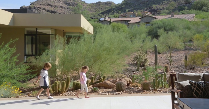 Two cute kids share their experience of living in a modern house in Arizona