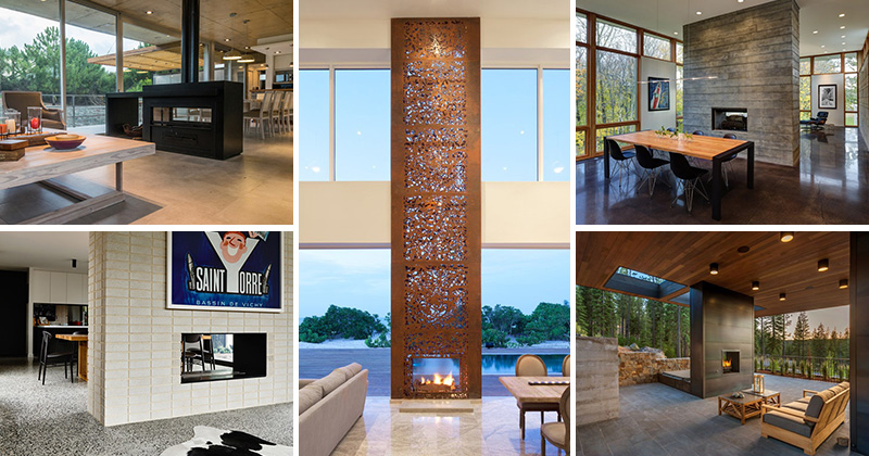 13 Examples Of How To Include A Double Sided Fireplace Into Your