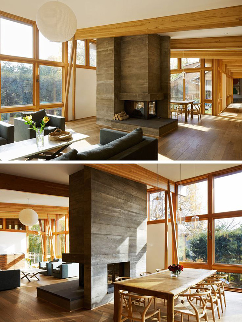 13 Examples Of How To Include A Double Sided Fireplace Into